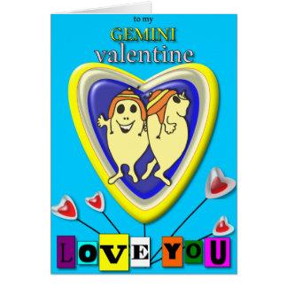 Cartes Gémeaux Valentine/carte de zodiaque