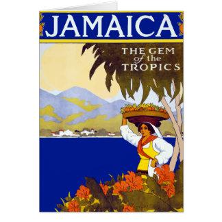 Cartes Gemme vintage de la Jamaïque du voyage de