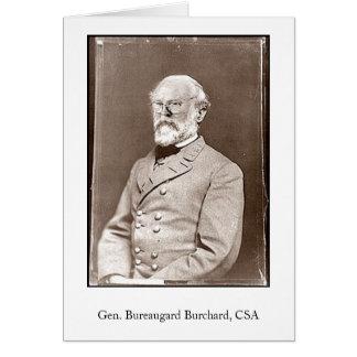 Cartes Gen. Bureaugard Burchard, CSA