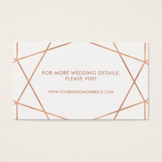 Cartes géométriques de site Web de mariage d'or