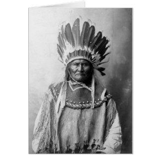 Cartes Geronimo dans la coiffe 1907