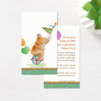 Cartes gifting de livre d'art de rhinocéros de