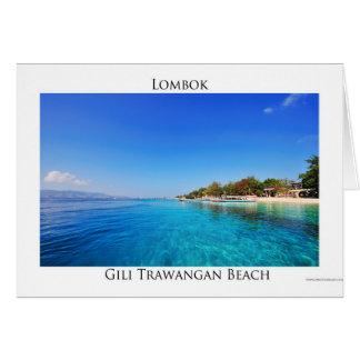 Cartes Gili Trawangan, Lombok