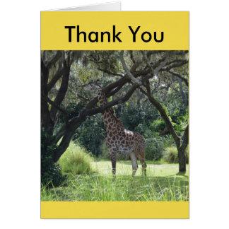 Cartes Girafe collant le cou