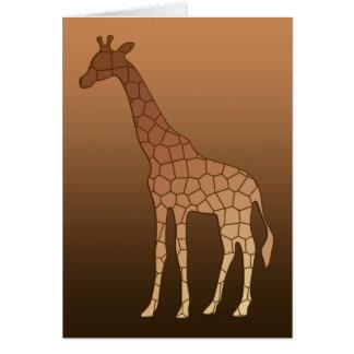 Cartes Girafe, cuivre et Brown géométriques modernes