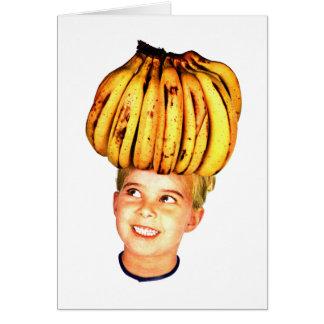 Cartes Girl principal de banane d'annonce vintage de