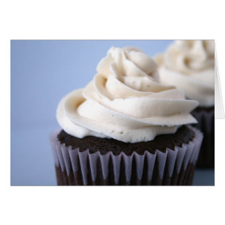 Cartes Givrage de vanille de petit gâteau de chocolat