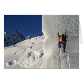 Cartes Glacez l'escalade sur le glacier de Tasman