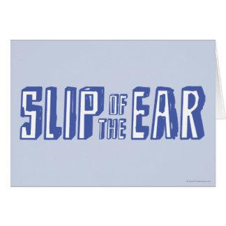 Cartes Glissement de l'oreille