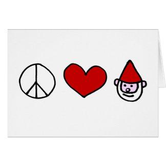 Cartes Gnome d'amour de paix