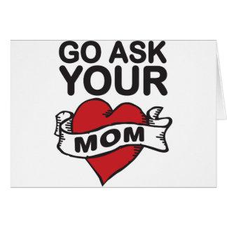 Cartes Go demandent à votre maman