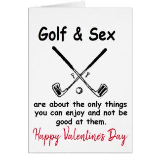 Cartes Golf jouant au golf de golfeur de heureuse