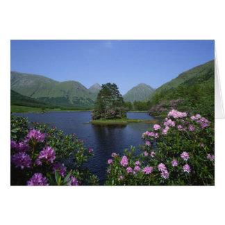 Cartes Gorge Etive, montagnes, Ecosse