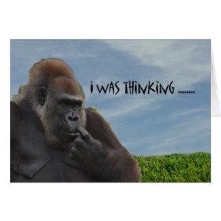 Cartes Gorille humoristique drôle de singe vieillissant