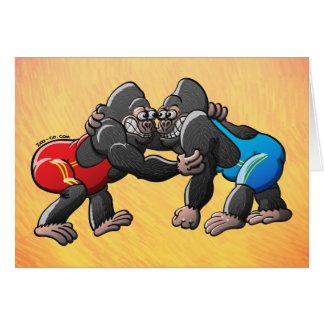 Cartes Gorilles de lutte