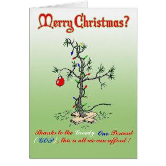 Cartes Grâce à l'un pour cent avide de Noël drôle C
