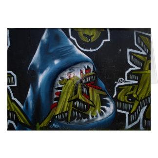 Cartes Graffiti d'attaque de requin