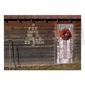 Cartes Graffiti rustique de Noël