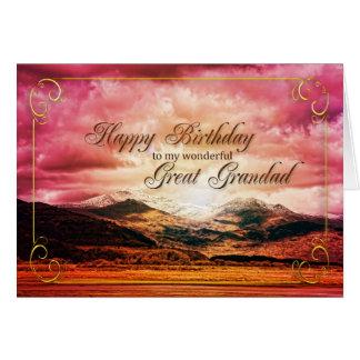 Cartes Grand anniversaire de papy, coucher du soleil