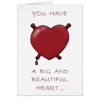 Cartes Grand coeur et cerveaux juteux…