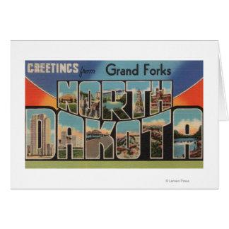 Cartes Grand Forks, le Dakota du Nord - grande lettre