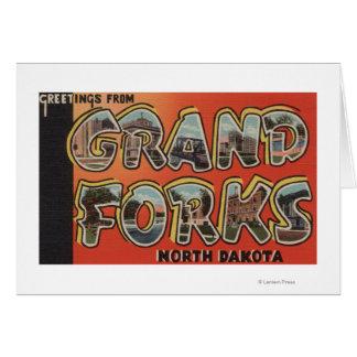 Cartes Grand Forks, le Dakota du Nord - grandes scènes de