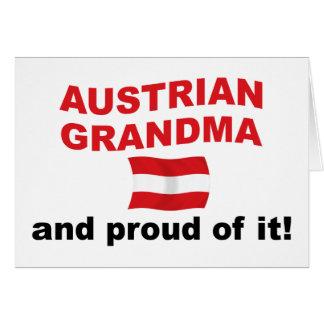Cartes Grand-maman autrichienne fière