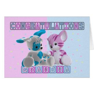 Cartes Grand-maman aux félicitations de jumeaux