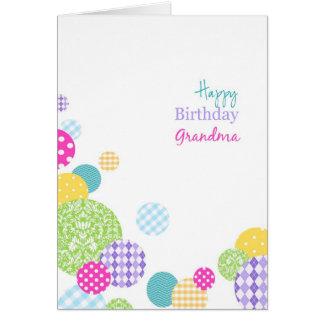 Cartes Grand-maman colorée de joyeux anniversaire de