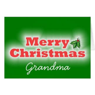 Cartes Grand-maman de Joyeux Noël