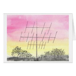 Cartes Grande antenne au coucher du soleil