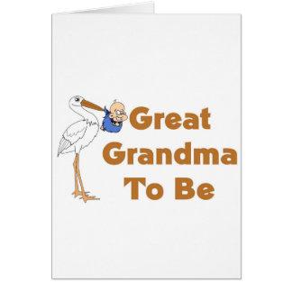 Cartes Grande grand-maman de cigogne à être