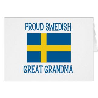 Cartes Grande grand-maman suédoise fière