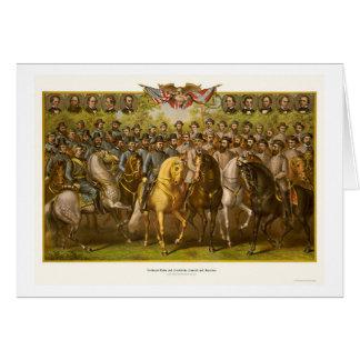 Cartes Grands généraux 1865 des syndicats et de confédéré