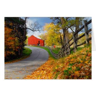 Cartes Grange dans l'automne