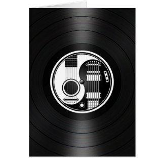 Cartes Graphique blanc et noir de vinyle de guitares de