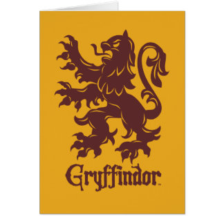 Cartes Graphique de lion de Harry Potter | Gryffindor