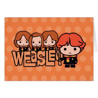 Cartes Graphique de Weasley Siblilings de bande dessinée