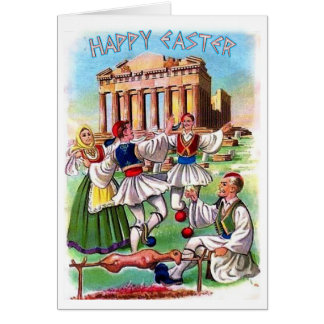 Cartes Grec vintage Pâques/carte de Pascha en anglais