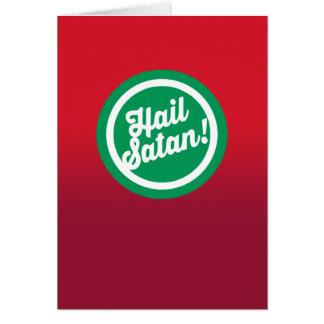 Cartes Grêle de fête Satan