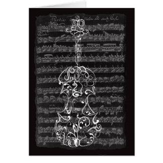 Cartes Gribouillage de violon sur le manuscrit de Bach