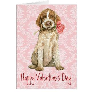 Cartes Griffon rose de Valentine
