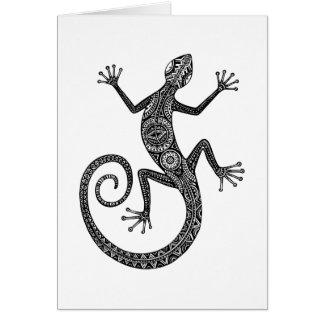Cartes Griffonnage de lézard ou de salamandre
