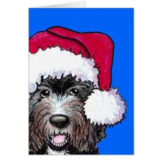 Cartes Griffonnage de noir de Père Noël