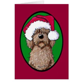 Cartes Griffonnage Père Noël de chocolat