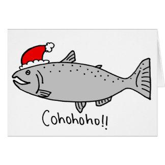 Cartes Griffonnage saumoné de Noël de Cohohoho
