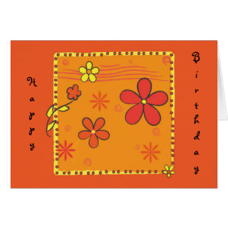 Cartes Griffonnages de fleur