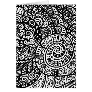 Cartes Griffonnages peints à la main noirs et blancs