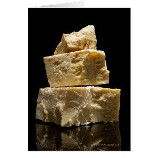 Cartes Gros morceaux empilés de fromage de Parmasean