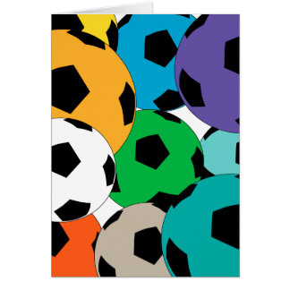 Cartes groupe de ballons de football